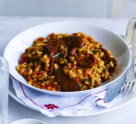 Chorizo rosemary pearl barley risotto keeprecipes your see original recipe at bbcgoodfood forumfinder Gallery