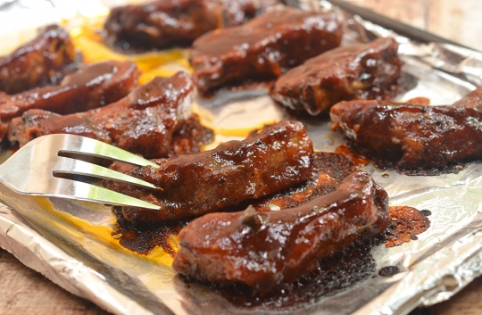 Oven-Baked Baby Back Ribs with Coffee Whiskey Barbecue ...