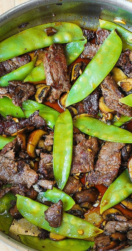 Asian Beef with Mushrooms & Snow Peas | KeepRecipes: Your ...