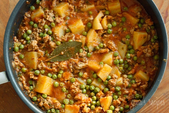 Ground Turkey With Potatoes And Spring Peas Keeprecipes Your Universal Recipe Box