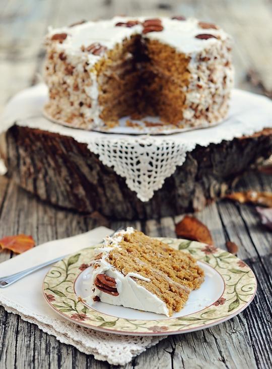 Caramel Pumpkin Italian Cream Cake KeepRecipes Your Universal