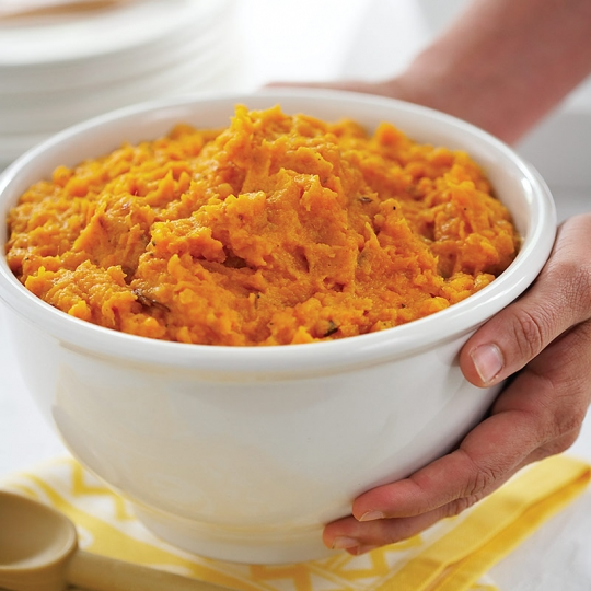 Herb Mashed Sweet Potatoes with Caramelized Onion | KeepRecipes: Your ...