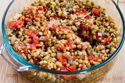Vegetarian Greek Lentil Casserole With Bell Peppers And Feta Recipes ...