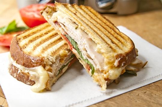 Turkey and cheese panini