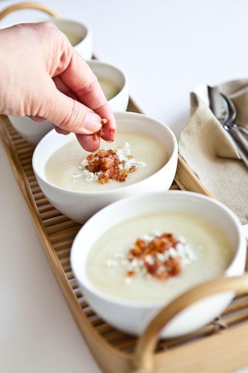 Creamy Cauliflower Soup with Bacon and Gorgonzola ...
