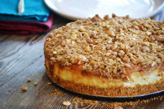 Caramel Apple Crisp Cheesecake ~The Secret Recipe Club