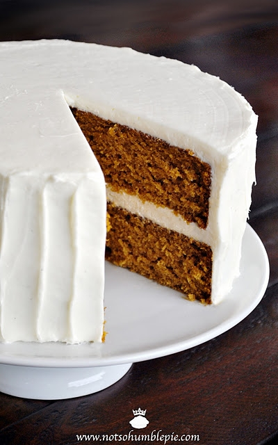 Pumpkin Spice Cake with Whipped Cream Cheese Frosting | KeepRecipes ...