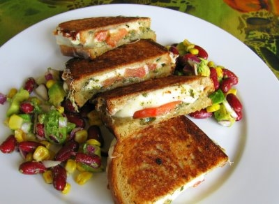 Tyler's Mozzarella Grilled Cheese Sandwiches | KeepRecipes: Your ...