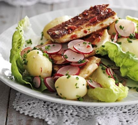 Warm Potato Radish Halloumi Salad Keeprecipes Your