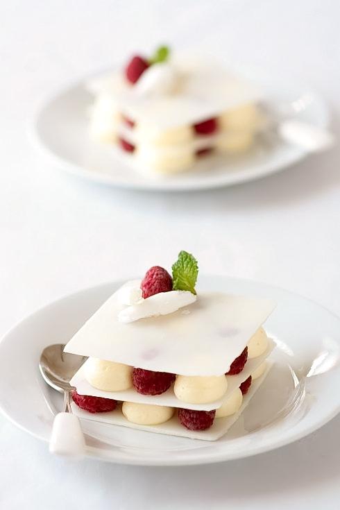 White Chocolate Vanilla Bean Cardamom Mousse And