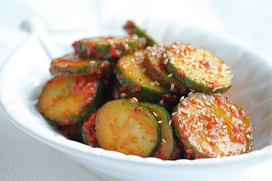 Korean Spicy Cucumber Salad Quot Banchan Quot Keeprecipes Your Universal Recipe Box