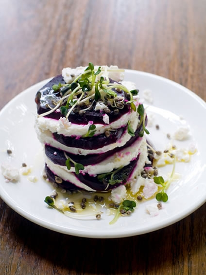 Fancy Gourmet Appetizers With Beet And Feta Cheese Keeprecipes Your Universal Recipe Box