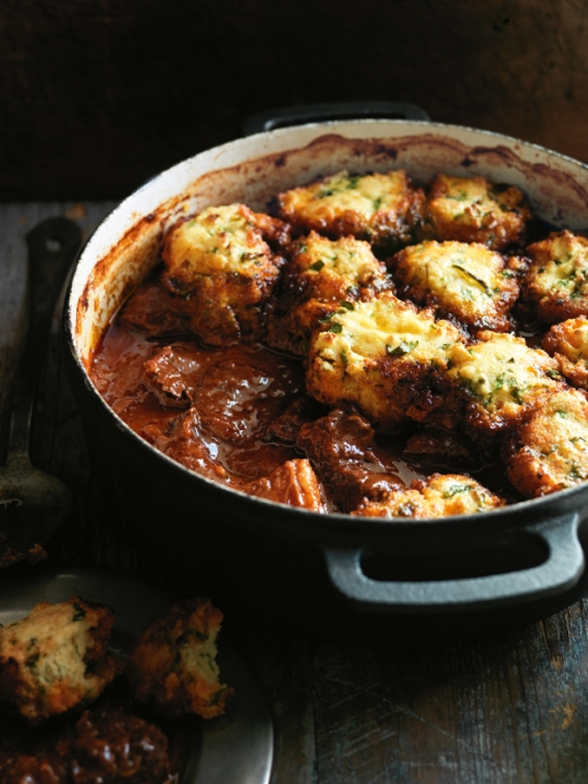 Smoky Chili Braised Beef with Cornbread Dumplings | KeepRecipes: Your ...