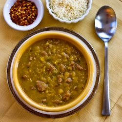 for Spicy Yellow Split Pea Soup with Italian Sausage and Green Pepper ...