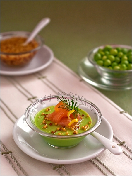 Green pea panna cotta with smoked salmon | KeepRecipes: Your Universal ...