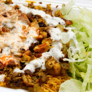 Halal Cart–Style Chicken and Rice with White Sauce | KeepRecipes ...