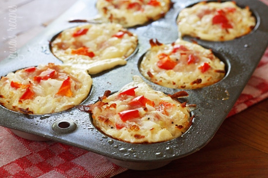 Bacon Hash Brown Egg White Nests