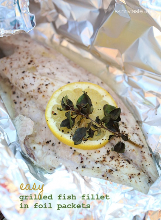 Easy grilled fish fillet in foil packets keeprecipes for Grill fish in foil