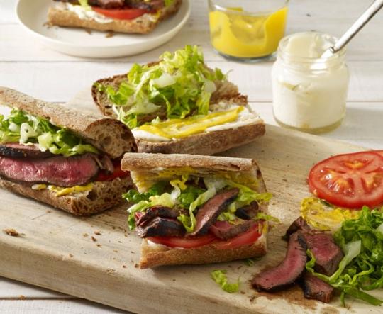 Grilled-Steak Sandwiches Recipe — Dishmaps