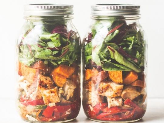 Southwestern Chicken Fajita Mason Jar Salad Keeprecipes Your
