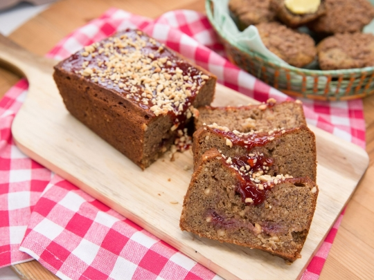 Peanut butter and jelly banana bread keeprecipes your universal see original recipe at foodnetwork forumfinder Gallery