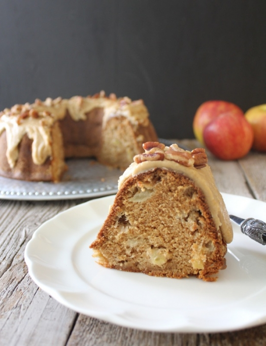 Spiced Apple Cake with Eggnog Sauce | KeepRecipes: Your Universal ...