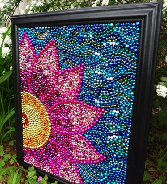 Craft: Beaded Wall Art | KeepRecipes: Your Universal Recipe Box
