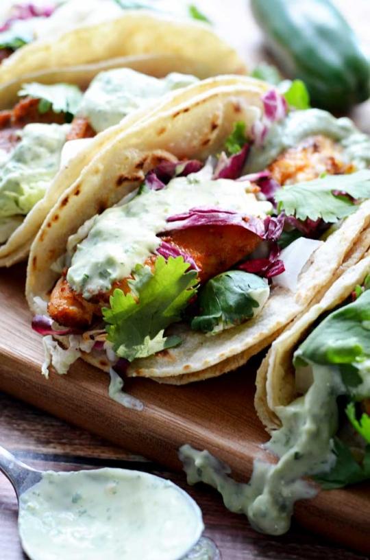 Blackened fish tacos keeprecipes your universal recipe box for Blackened fish tacos recipe