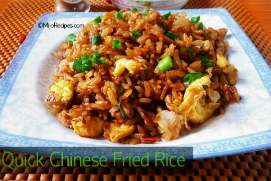 Quick chinese fried rice keeprecipes your universal recipe box quick chinese fried rice forumfinder Gallery