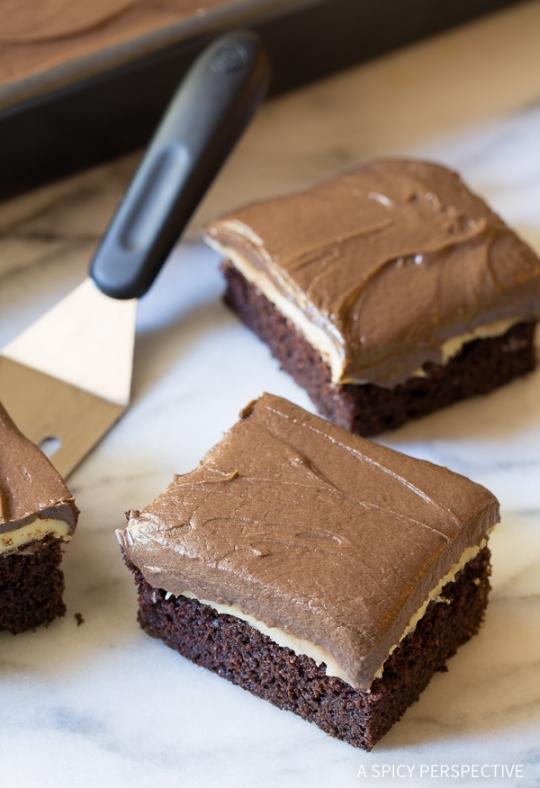 Chocolate Mint Texas Sheet Cake KeepRecipes Your Universal Recipe Box