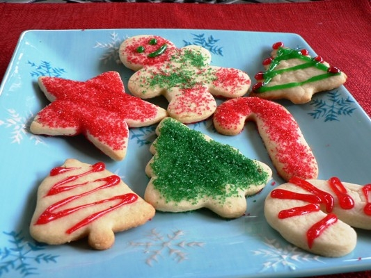 Christmas Cutout Sugar Cookies Recipe : : Food Network ...