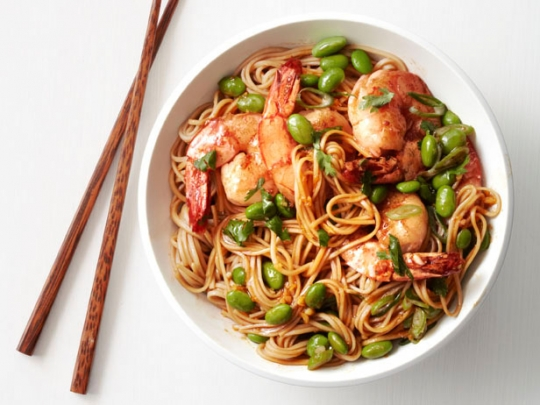 Asian noodles with shrimp and edamame keeprecipes your universal see original recipe at foodnetwork forumfinder Choice Image