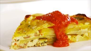 Spanish Potato Omelet Giada | KeepRecipes: Your Universal Recipe Box