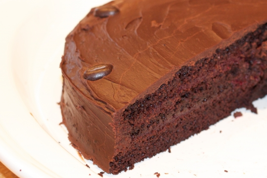 Double Chocolate Cake with Raspberry Filling | KeepRecipes ...