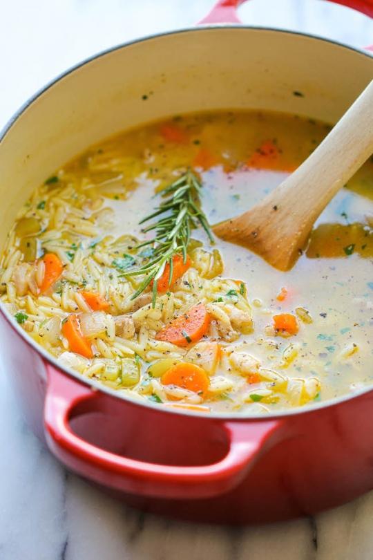 Damn Delicious Lemon Chicken Orzo Soup Keeprecipes Your Universal Recipe Box