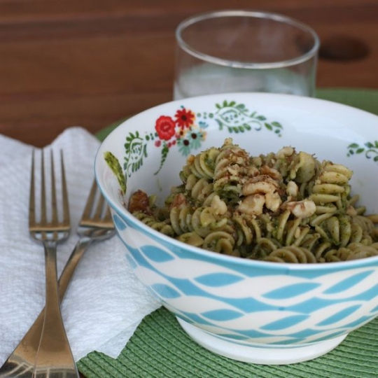 Whole Wheat Rotini with Meyer Lemon and Arugula Pesto | KeepRecipes ...