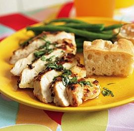 Mustard & Coriander Chicken Breasts with Lemon-Basil Vinaigrette ...