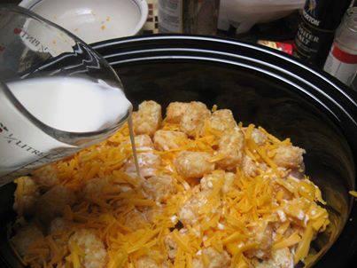 Cheesy Chicken Tater Tot Casserole In The Crockpot Keeprecipes Your Universal Recipe Box