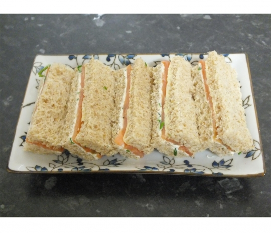 Smoked Salmon Tea Sandwiches With Dill Cream Cheese Recipe ...