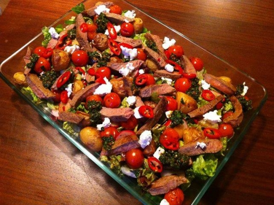 Spicy Steak And Roasted Potato Salad With Chermoula Dressing