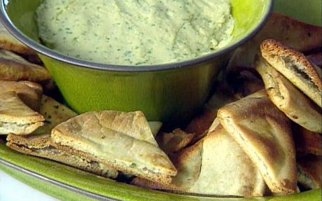 Chive Mascarpone Dip with Herbed Pita Chips | KeepRecipes: Your ...