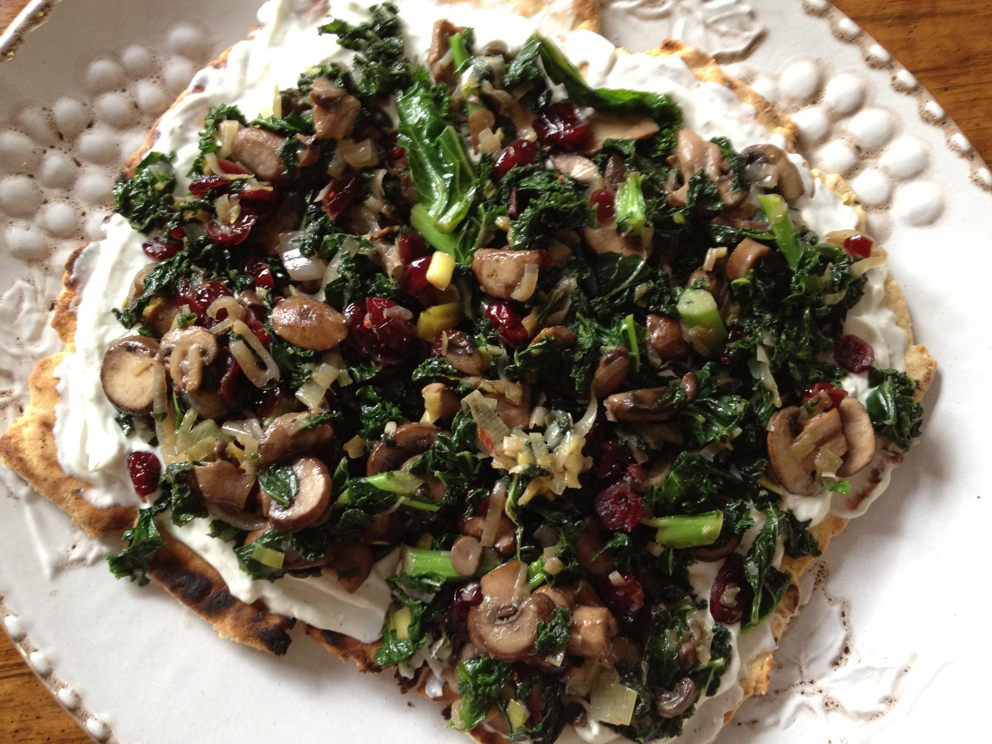 Sauteed Kale Mushrooms And Cranberries Keeprecipes Your Universal Recipe Box
