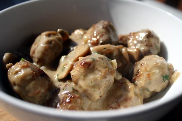 Meatballs with Mushroom Sauce KeepRecipesYour Universal Recipe Box