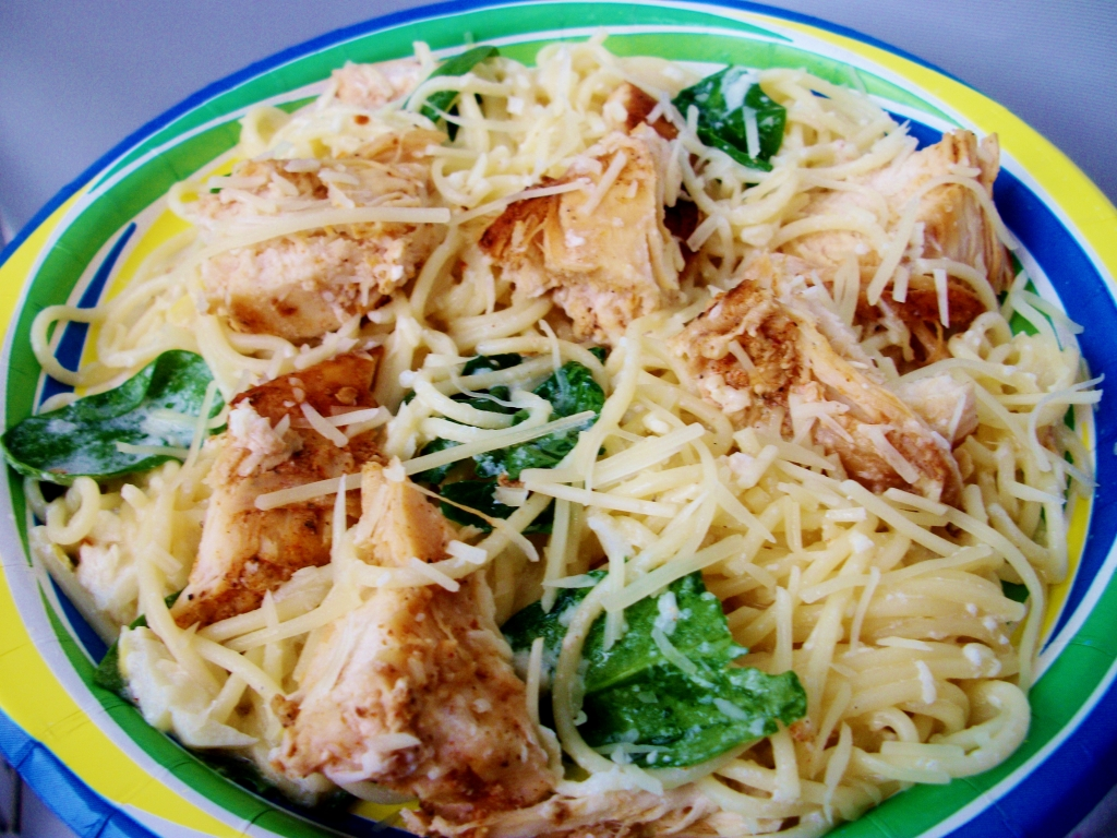 angel hair pasta with chicken recipe taste of home lemon angel hair with chicken and spinach keeprecipes
