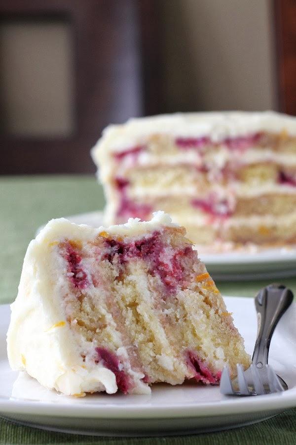 Meyer Lemon Iced Raspberry Yogurt Cake Keeprecipes Your Universal Recipe Box