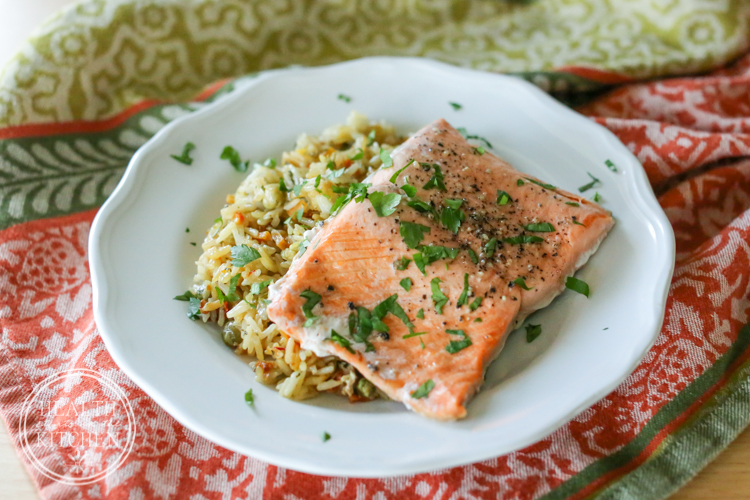 Salmon Rice Pilaf Keeprecipes Your Universal Recipe Box