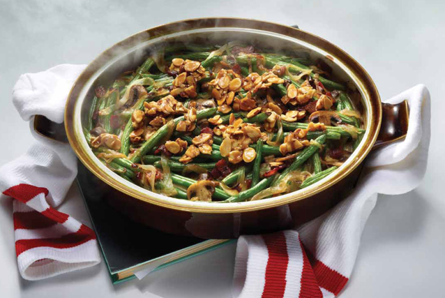 Green Bean Casserole With Bacon Amp Almonds Keeprecipes