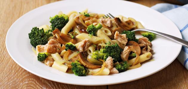Salmon Pasta With Mushroom Amp Broccoli Keeprecipes Your Universal Recipe Box