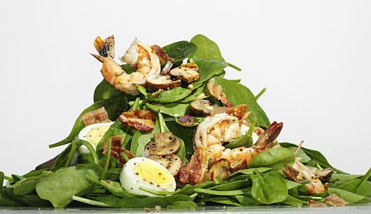 spinat salat mit garnelen keeprecipes your universal recipe box. Black Bedroom Furniture Sets. Home Design Ideas