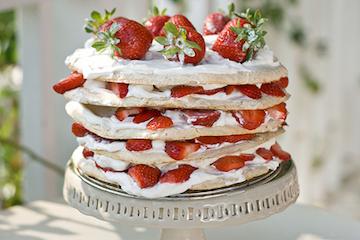 Swedish Meringue Cake With Strawberries Recipe